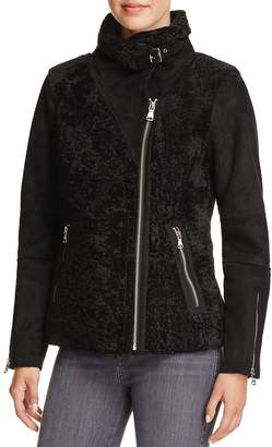 Vince Camuto Faux Shearling Bomber Jacket