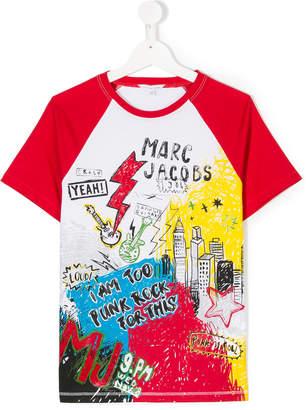 Little Marc Jacobs punk rock print T-shirt