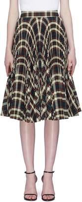 Calvin Klein Glen check plaid pleated skirt