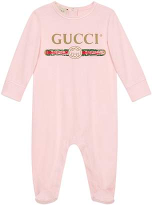 Gucci Logo Cotton Footie