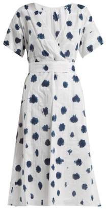 Rachel Comey Weekend Tie Dye Cotton Dress - Womens - Blue White