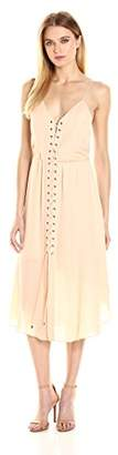 Haute Hippie Women's Front Lace Up Dress, M