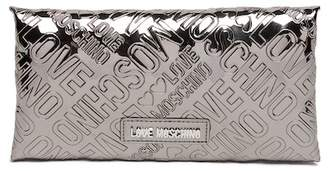 Love Moschino Embossed Logo Patent PU Wallet