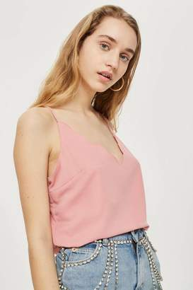 Topshop Tall Harper Scallop Camisole Top