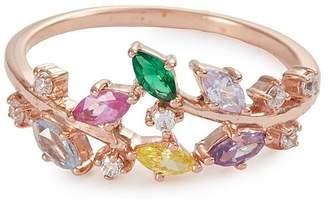 Anabela Chan 'Rainbow Ivy' diamond gemstone 9k rose gold ring