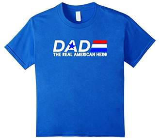 Dad Red White and Blue The Real American Hero T Shirt