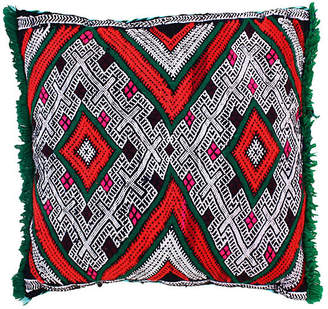 One Kings Lane Vintage Moroccan Pillow with Berber-Tattoo Design - The Moroccan Room
