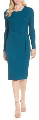 MICHAEL Michael Kors Belted Rib Knit Dress