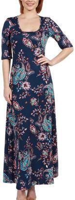 24/7 Comfort Apparel Katerina Maxi Dress