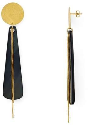 Chan Luu Horn Drop Earrings