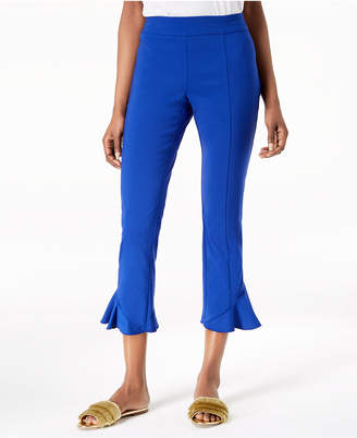INC International Concepts I.n.c. Ruffled-Hem Cropped Pants, Created for Macy's
