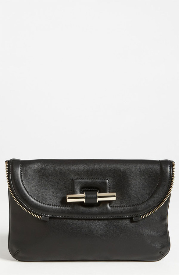 Jimmy Choo 'Jasmine' Leather Clutch