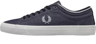 Fred Perry Kendrick Tipped Cuff Chambray Pumps Navy