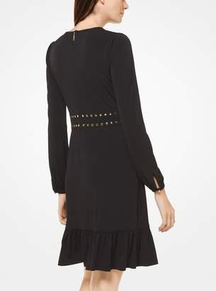 MICHAEL Michael Kors Grommeted Stretch Matte-Jersey Dress
