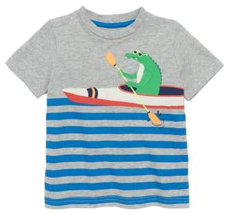 Boden Mini Paddling Pal Applique T-Shirt
