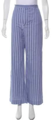 Balenciaga High-Rise Striped Pants blue High-Rise Striped Pants