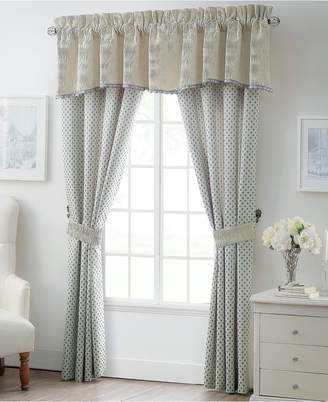 """Waterford Allure Slate Gray 21"""" x 55"""" Scalloped Window Valance"""