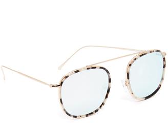 Illesteva Mykonos Ace Sunglasses $220 thestylecure.com
