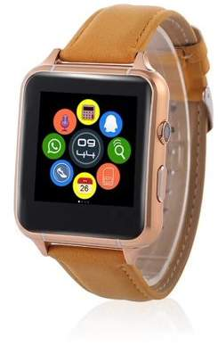 VicTsing Bluetooth Smart Watch X7 with Gesture Control Mp3 Camera FM Video Wearable Devices 1.54 Inch IPS Screen Support TF Card SIM Card (Gold)