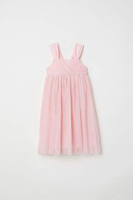 H&M Glittery Mesh Dress