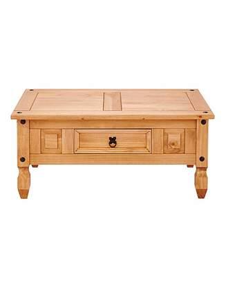 Fashion World Corona Solid Pine Storage Coffee Table