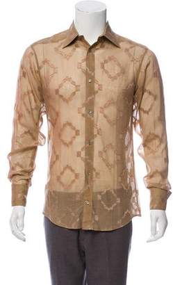 Gucci Vintage French Cuff Button-Up Shirt