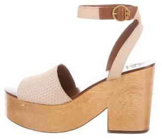 Tory Burch Ponyhair Wooden Wedges w/ Tags