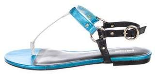 Just Cavalli Leather Thong Sandals