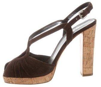 pradaPrada Cutout Suede Sandals