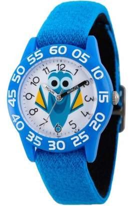 Disney Kids Dory Blue Stretch Band Time Teacher Watch
