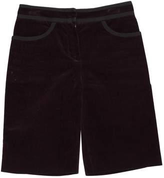 Louis Vuitton Purple Cotton Shorts