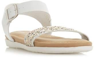 Roberto Vianni White 'Luton' Ankle Strap Sandals