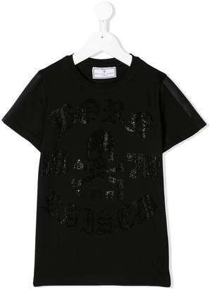 Philipp Plein Junior embellished logo T-shirt