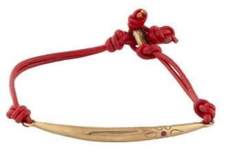 Me & Ro Me&Ro 10K Ruby Leather Wrap Bracelet