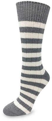 SILKS Casual Stripe Ribbed Crew Sock