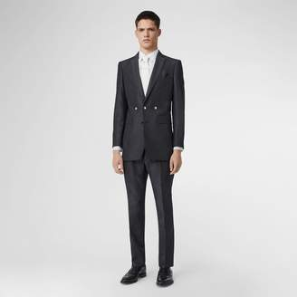 Burberry English Fit Triple Stud Silk Linen Tailored Jacket