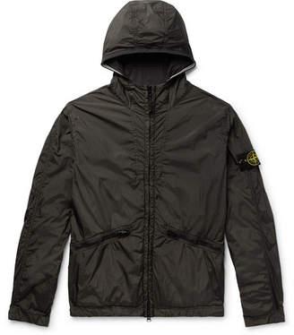 Stone Island Logo-Appliqued Garment-Dyed Shell Hooded Jacket