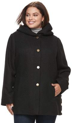 Apt. 9 Plus Size Faux-Wool Hooded Jacket