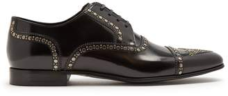 Dolce & Gabbana Stud-embellished leather derby shoes