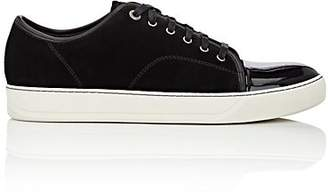 Lanvin Men's Patent-Cap-Toe Sneakers - Black