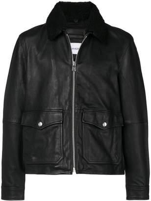 Calvin Klein Jeans shearling trim jacket