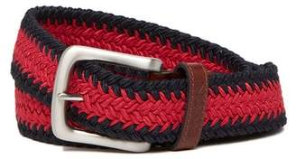 Boconi Leather Trimmed Web Braid Belt