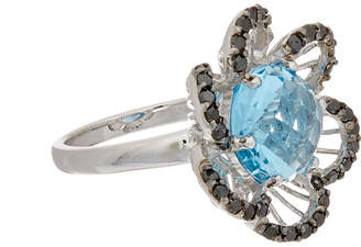 Effy Fine Jewelry 14K 6.40 Ct. Tw. Diamond & Blue Topaz Ring