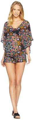 Luli Fama Noche De Sevilla Cabana V-Neck Dress Cover-Up Women's Swimwear