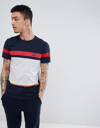 Aquascutum London Roeburn Stripe T-Shirt In Navy