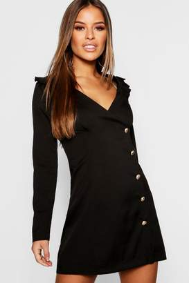 boohoo Petite Button Detail Blazer Dress
