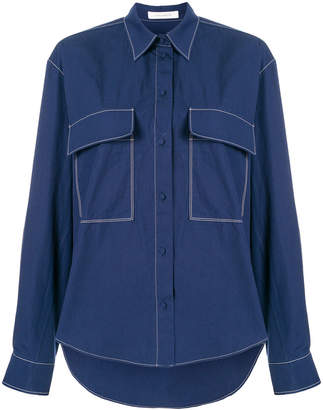 Cédric Charlier flap pockets loose shirt