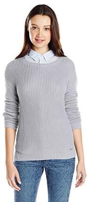 U.S. Polo Assn. Juniors' Side-Split High/Low Crew-Neck Sweater