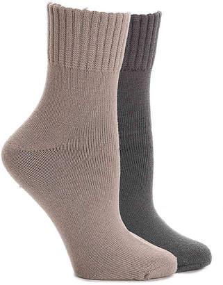 Lemon Terry Rib Crew Socks - 2 Pack - Women's