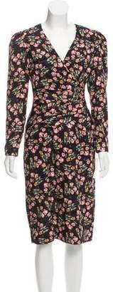 Albert Nipon Printed Midi Dress w/ Tags